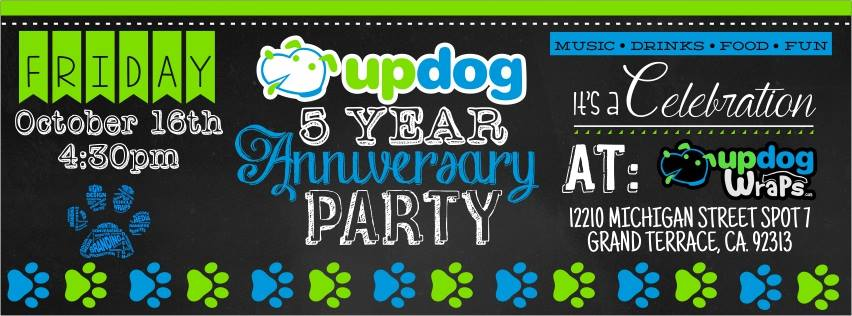 UpDog 5 Year Anniversary Celebration